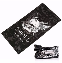 Death Knight Skull Multi Usage Bandana Bike Scarf 2 Pc. Lot