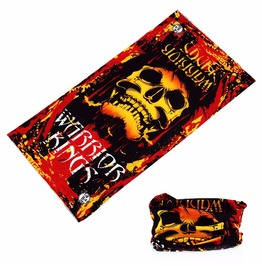 Warrior King Skull Multi Usage Bandana Bike Scarf 2 Pc. Lot