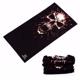Horror Skull Multi Usage Bandana Bike Scarf 2 Pc. Lot