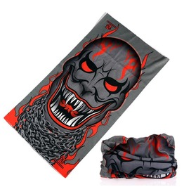 Sharp Fangs Skull Multi Usage Bandana Bike Scarf D2