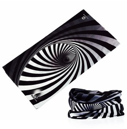 Black White Swirl Multi Usage Bandana Bike Scarf
