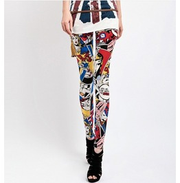 Graffiti Style Fashion Leggings (Thin Fabric)