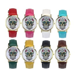 Candy Colors Skull Wrist Watch