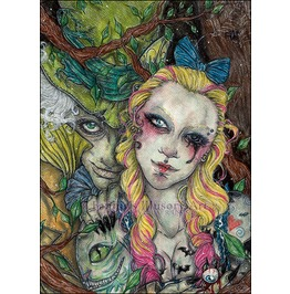 Alice In Wonderland. Take A Look Outside The Gaze. Art Print Din A4