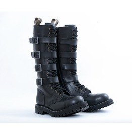 Steel 20 Eyelet 4 Buckles Steel Toe Cap Boots With Screw Sole