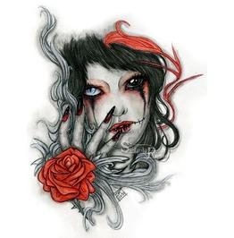 Bloody Tears. Art Print Din A4