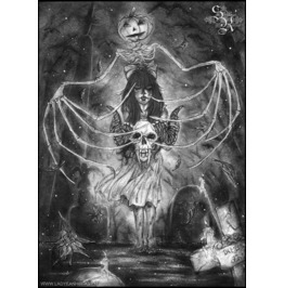 Watch Out For The Ghouls During Halloween. Art Print Din A4