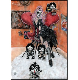 Kiss. Truly Outrageous 80's Tarot: The Devil. Art Print Din A4