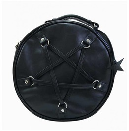 Pentagram Gothic Round Bag Rock Alternative Witch Occult Banned Nu Goth