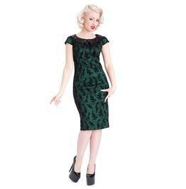 New Swing Tattoo Floral Pencil Green Dress
