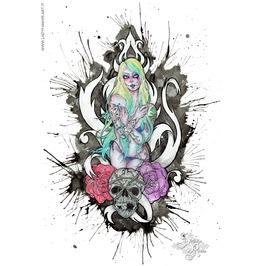 Rose 'n' Root. Art Print Din A4