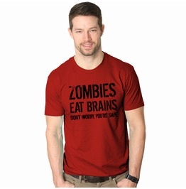 Zombies Eat Brains T Shirt. Funny Men's Shirt.