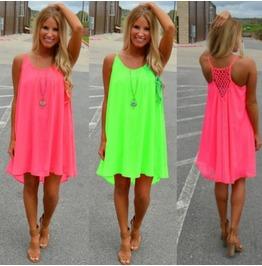 Women's Summer Casual Sleeveless Evening Party Beach Dress Short Mini Dress