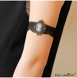 Handcraft Black Lace Gothic Arm Bracelet At 70