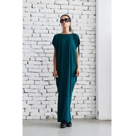 Petrol Maxi Dress/Loose Casual Kaftan/Petrol Green Long Tunic Dress