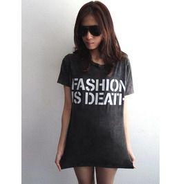Fashion Is Death Pop Rock Cool Print T Shirt M