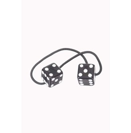 Banned Apparel Black Dice Hair Band