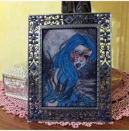 Wearing The Night. Ooak Framed Painting