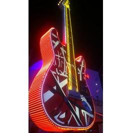 Eddie Van Halen Neon Guitar 8x10