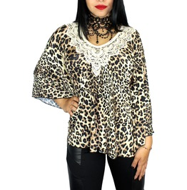 Sexy Leopard Caftan Tunic Boho Pinup Rockabilly Goth Sexy Coverup Top