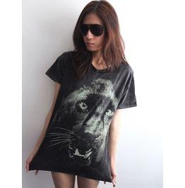 Black Panther Animal Graphic Print Wave T Shirt M