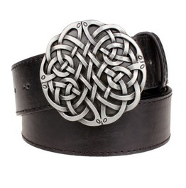 Steampunk Men's Belt With Celtic Knot Buckle Serie 1