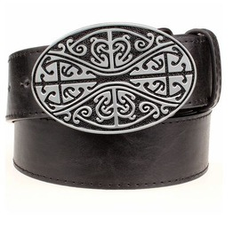 Steampunk Men's Belt With Celtic Knot Buckle Serie 3