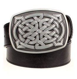 Steampunk Men's Belt With Celtic Knot Buckle Serie 5