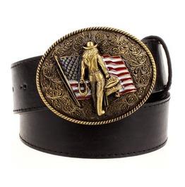 Steampunk Men's Belt With American Cowboy Buckle Serie 1