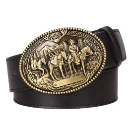 Steampunk Men's Belt With American Cowboy Buckle Serie 2