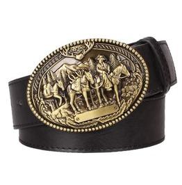 Steampunk Men's Belt With American Cowboy Buckle Serie 2