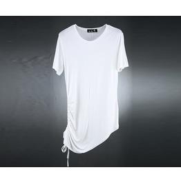 Men's Cutting String Unbalance Shirts