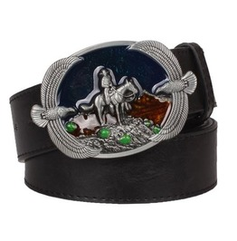 Steampunk Men's Belt With American Cowboy Buckle Serie 3
