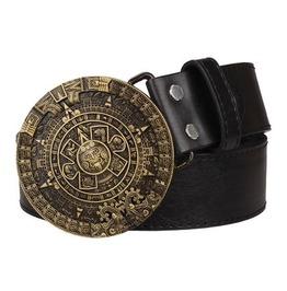 Steampunk Men's Belt With Vintage Aztec Buckle Serie 1
