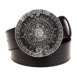 Steampunk Men's Belt With Vintage Aztec Buckle Serie 2