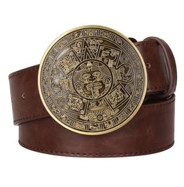 Steampunk Men's Belt With Vintage Aztec Buckle Serie 3