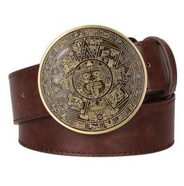 Steampunk Men's Belt With Vintage Aztec Buckle Serie 3