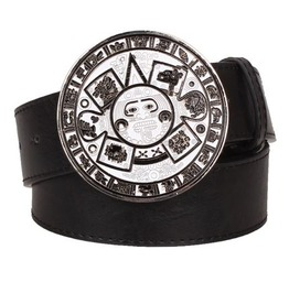 Steampunk Men's Belt With Vintage Aztec Buckle Serie 4