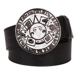 Steampunk Men's Belt With Vintage Aztec Buckle Serie 4