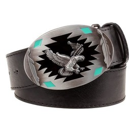 Steampunk Men's Belt With Flying Eagle Buckle