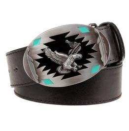 Steampunk Men's Belt With Flying Eagle Buckle