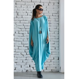 Blue Mint Kaftan / Maxi Dress / Extravagant Kaftan / Plus Size/ Blue Dress