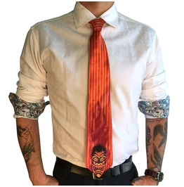 Night Of Tiki Men's Tie