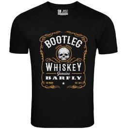 Barfly Apparel Men's Bootleg Whiskey Tee Black