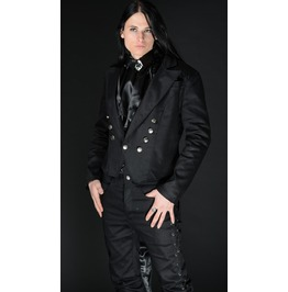 Gentlemans Black Tailcoat Jacket With Buttons And Satin Lining $9 To Ship