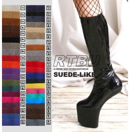 Fetish Gothic Diva No Heel Knee/Thigh/Crotch Boot Suede 36 Cm Shaft Height
