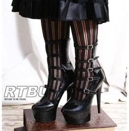 Handmade Fetish Lolita Calf 5 Strap Platform Stiletto Heel Pinup Burlesque