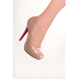 Banned Apparel Beverly Classic Platfrom Shoes Nude And Red
