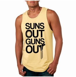 Sun's Out Guns Out Tank Top. Workout Men's Tank.