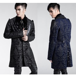 Mens Blue Or Black Baroque Gentlemans Jacket Gothic Victorian Coat $9 Ship